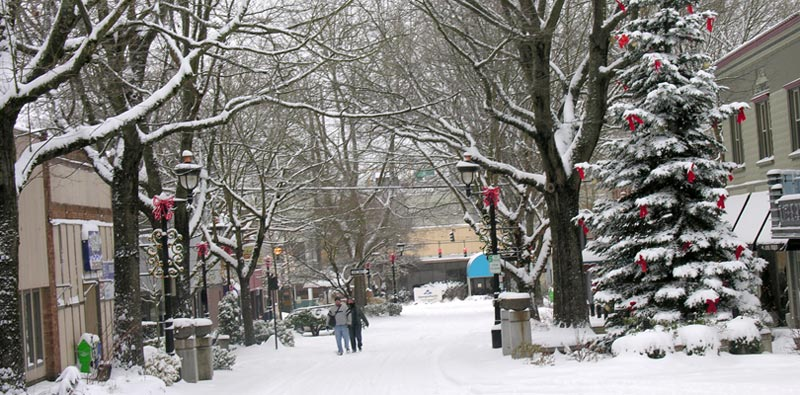 Snow in Downtown Camas